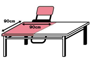 90cm×90cm